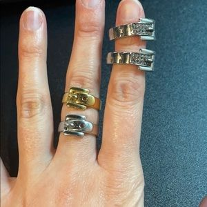 Michael Kors earring & 2 ring bundle